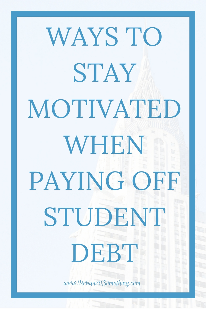 Do you struggling knowing how to stay motivated when paying back student loans? It's not your fault- it's hard! Click through for my 5 favorite ways to stay motivated, complete with a free debt-free diary workbook!
