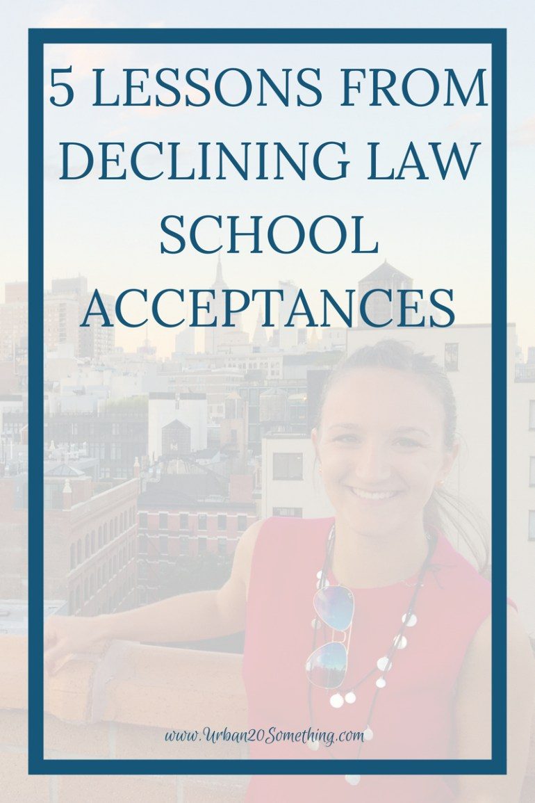 Five Lessons from Declining Law School Acceptances - Urban