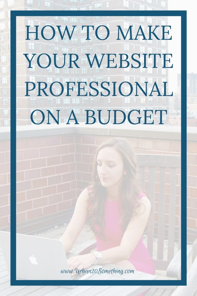When building a blog, online business or website, it can be difficult to know where to invest your money. But it's also so important to have a professional website if you want to be taken seriously. Click through to learn how to make your website look professional on a budget.