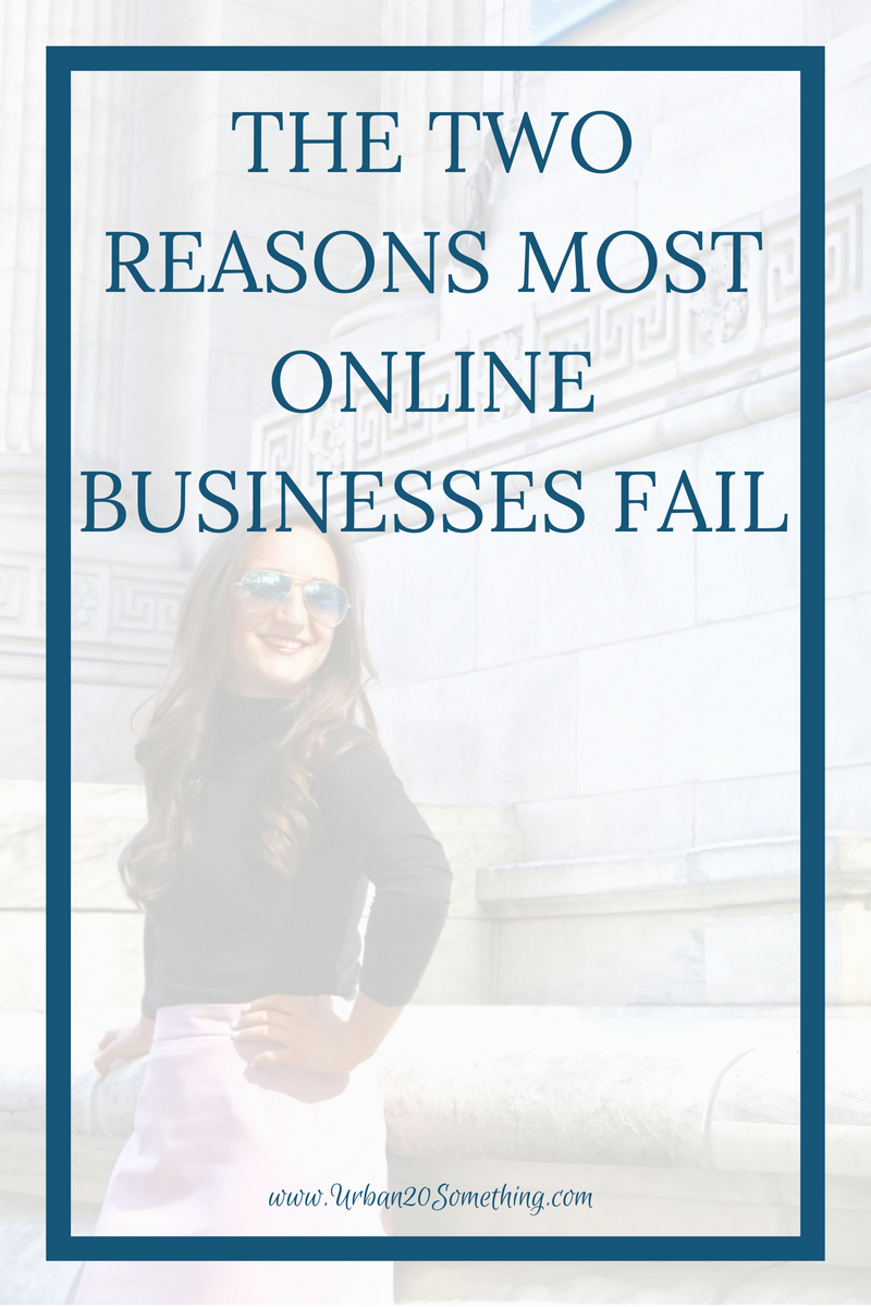 Starting an online business as a side hustle minimizes so much risk for you as an entrepreneur. You don't have to quit your day job and give up your secure income, and you have low overhead costs. Yet still, websites close all the time. Click through to find out the two biggest reasons online businesses fail