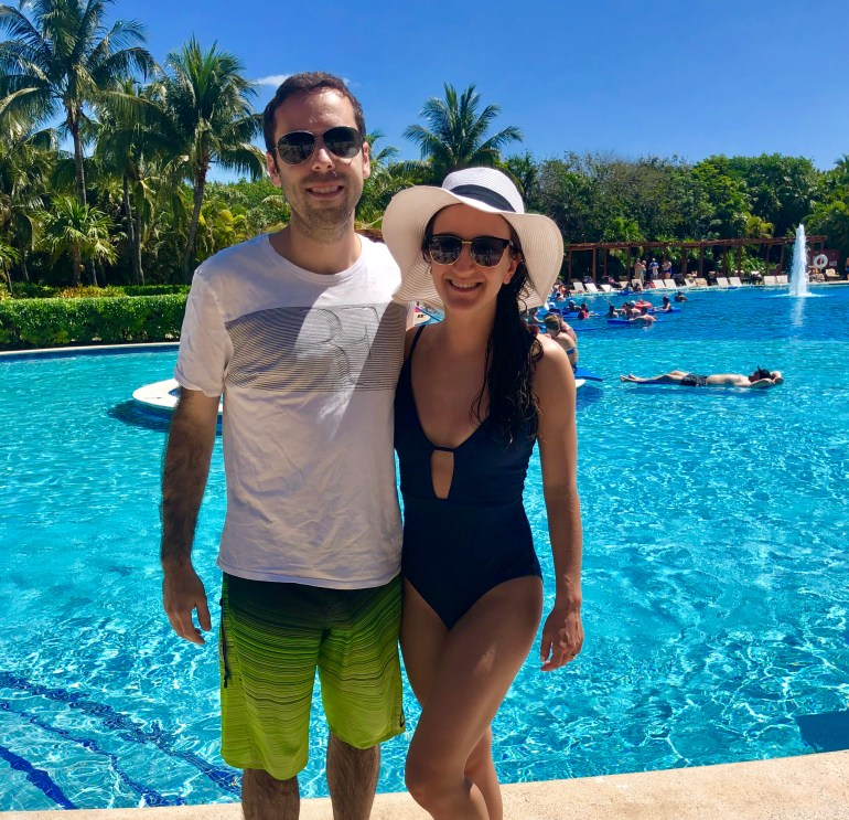 We loved hanging by the pool at the beautiful Valentin Imperial Riviera Maya