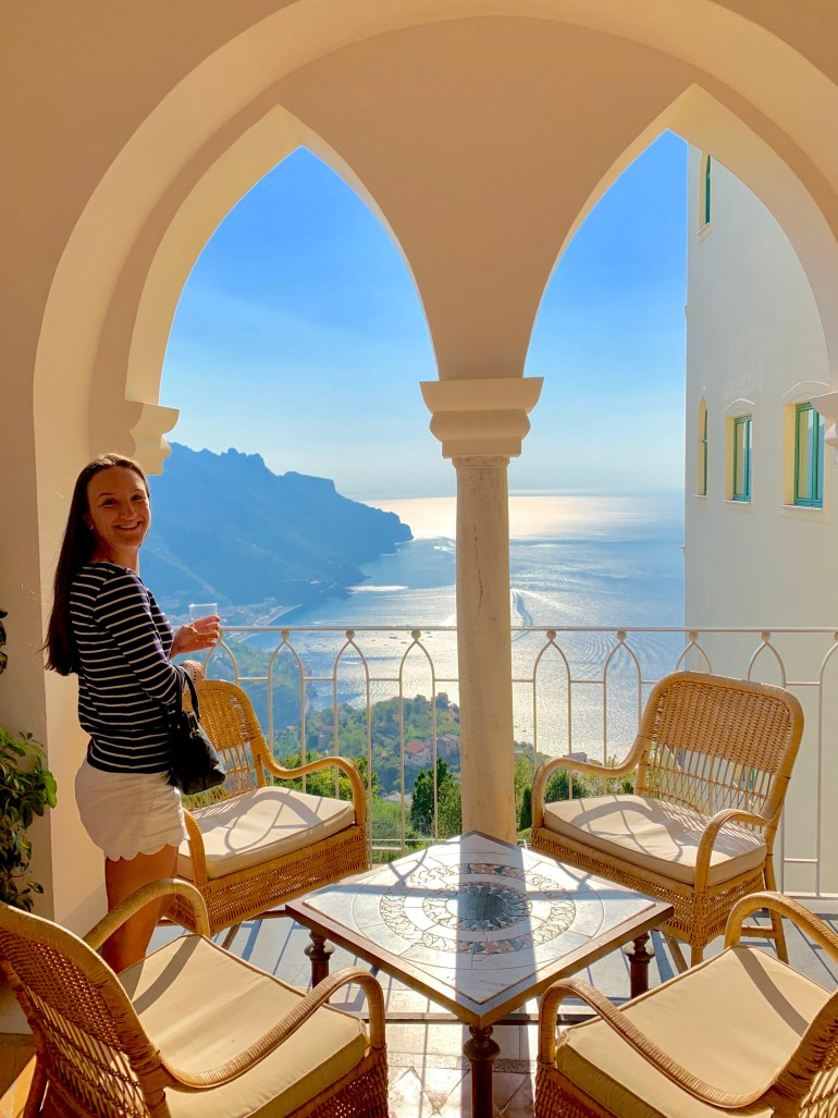 Leah Gervais at the Belmond Hotel Caruso