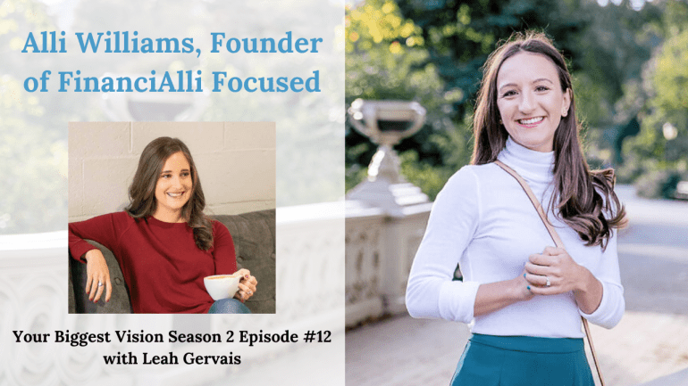 Tune in to this episode to hear Alli Williams, founder of FinanciAlli Focused, share helpful financial, business and goal achieving advice.