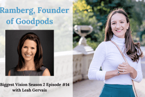 Tune in to today's episode of the Your Biggest Vision Show to hear JJ Ramberg, Founder of Goodpods, share her journey through years of entrepreneurship.