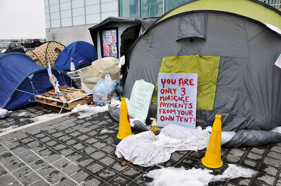 Occupy Thanet! Mini protest camp braves the freezing Margate snow