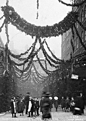Christmas in Electric Avenue Brixton 1908 Brixton