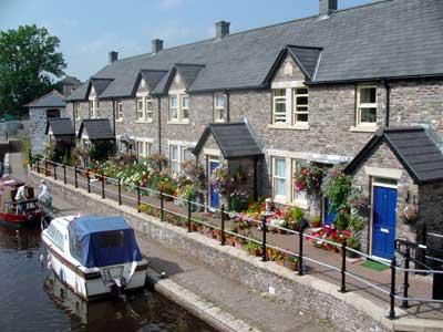 Restored Brecon Canal basin