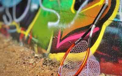 """Urban Anglers USA """"River Rat"""" racket nets"""