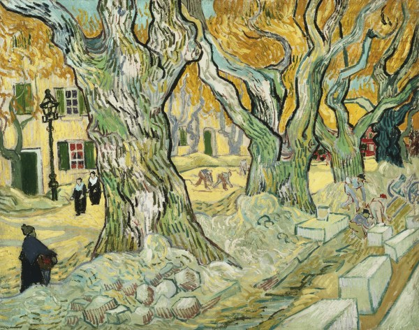 The Road Menders 1889 Van Gogh