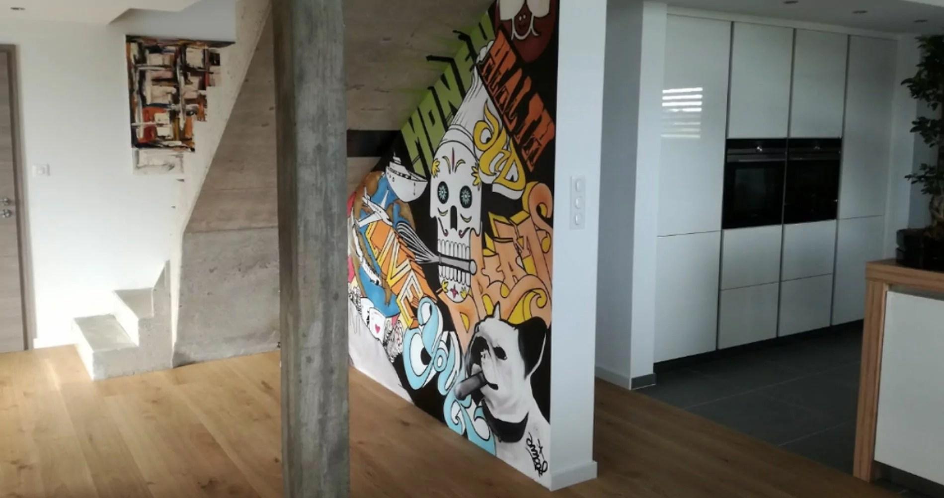 d co graffiti fresque street art pour entreprise graffeurs professionnels. Black Bedroom Furniture Sets. Home Design Ideas