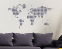 World Map Wall Sticker - World Wall Sticker - World Map ...