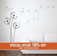 Dandelion Wall Stickers - Dandelion Stickers - Dandelion ...