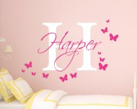 Personalised Girls Name Wall Sticker - Girls Name Wall ...