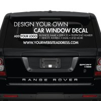 Car Window Stickers - Design Your Own - Custom Made ...