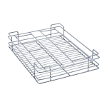 Glass Basket (4″ Height X 21″ Width X 20″ Depth) 5mm wire Stainless Steel