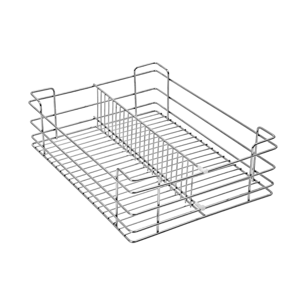 Partition Basket (4″ Height X 21″ Width X 20″ Depth) 5mm wire Stainless Steel