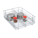 Partition Basket (4″ Height X 15″ Width X 20″ Depth) 6mm wire SS