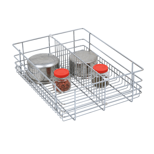 Partition Drawer Basket (8″ Height X 12″ Width X 20″ Depth) 6mm wire Stainless Steel
