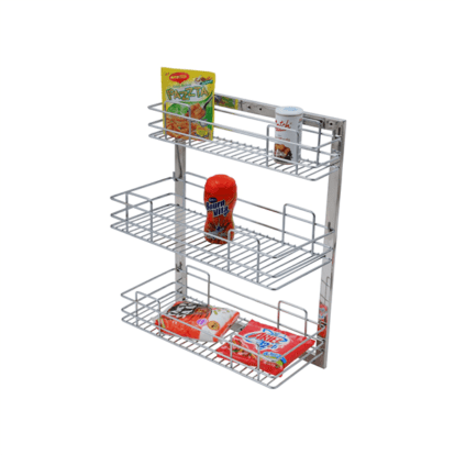 MULTI PURPOSE PULL OUT BASKET FRAME SIZE : 24″ HEIGHT X 20″ WIDTH WITH THREE BASKETS OF 8″ EACH