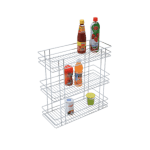 TRIPLE BASKET PULL-OUT (21″ HEIGHT X 4″ WIDTH X 20″ DEPTH) STAINLESS STEEL