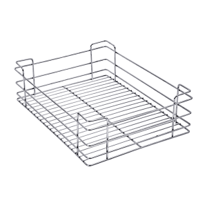 PLAIN DRAWER BASKET (6″ HEIGHT X 19″ WIDTH X 20″ DEPTH) 5MM WIRE STAINLESS STEEL