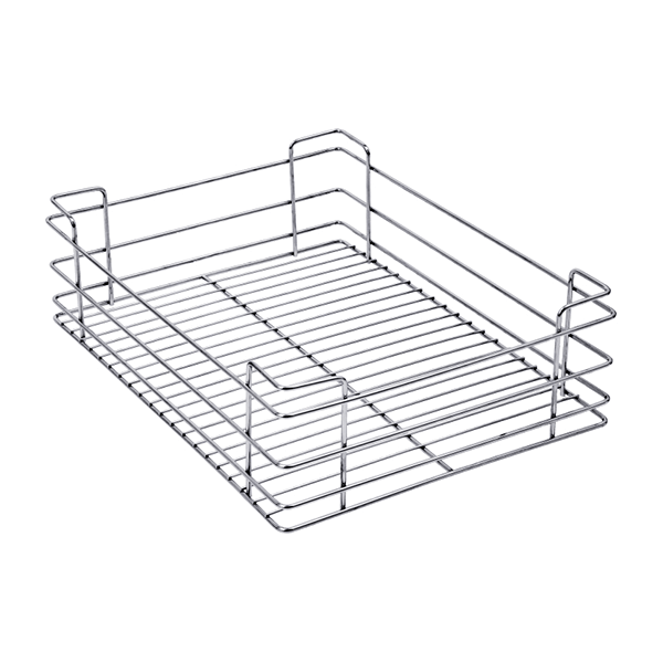 PLAIN DRAWER BASKET (8″ HEIGHT X 15″ WIDTH X 20″ DEPTH) 5MM WIRE STAINLESS STEEL