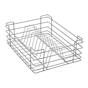 PLATE BASKET (6″ HEIGHT X 19″ WIDTH X 20″ DEPTH) 5MM WIRE STAINLESS STEEL
