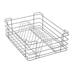 PLATE BASKET (6″ HEIGHT X 12″ WIDTH X 20″ DEPTH) 5MM WIRE STAINLESS STEEL