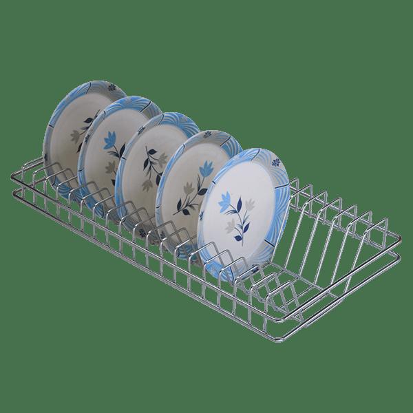 STAINLESS STEEL PLATE RACK (4″ HEIGHT X 10″ WIDTH X 32″ DEPTH)