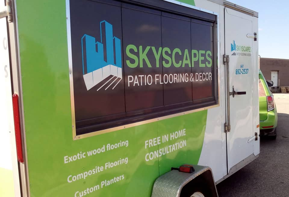 Skyscapes Patio flooring trailler