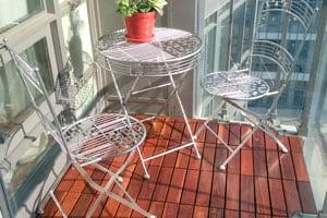 curupay deck tiles installed on toronto condo balcony