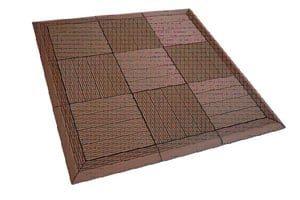 dura composite deck tiles installed