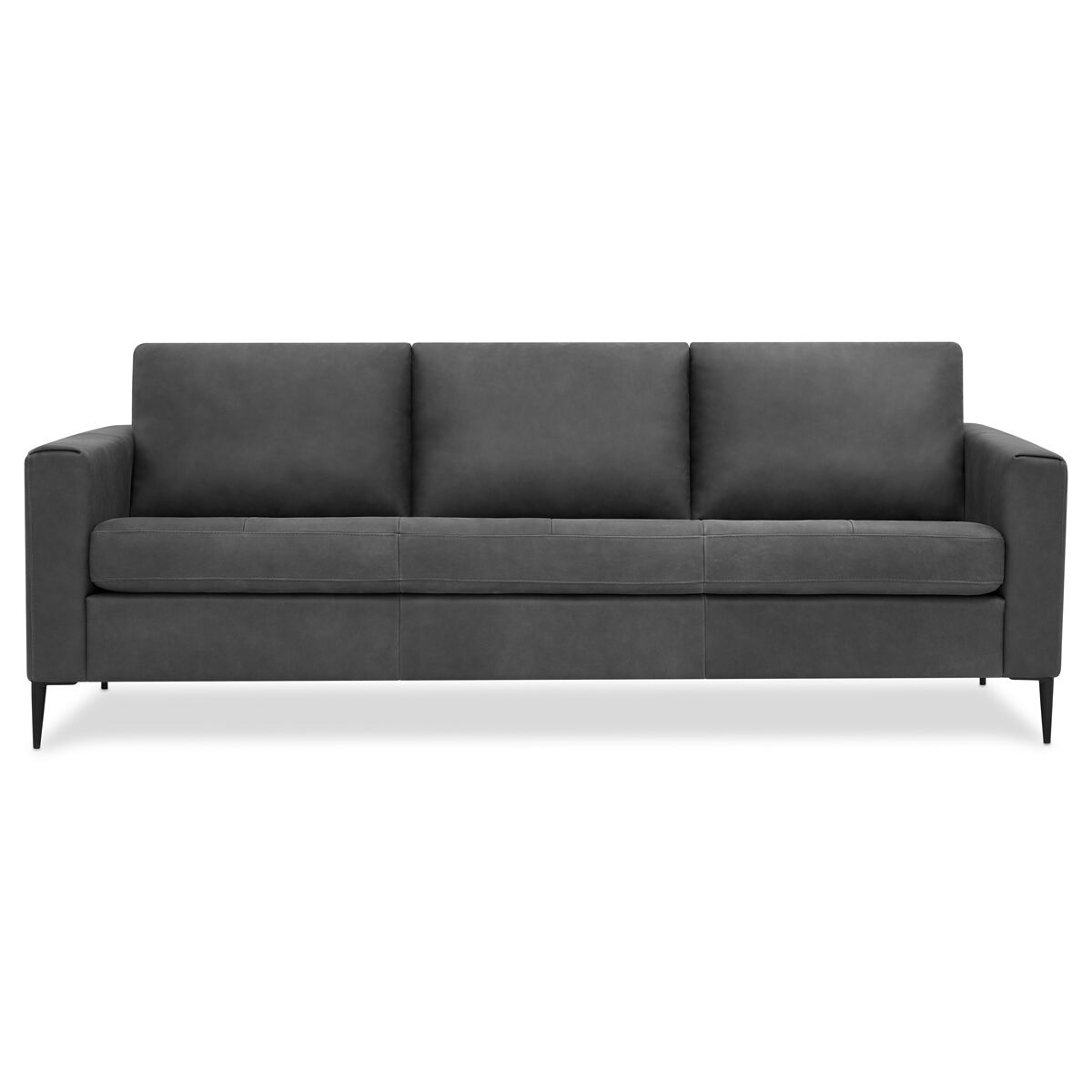 roll arm sofa canada best sofas for dogs owners living urban barn lucca leather attica slate