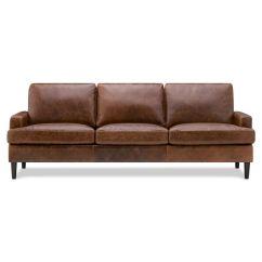 Sage Leather Sofa Affordable Sleeper Sofas Savoy Jasper Walnut