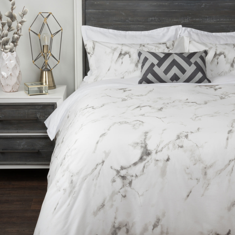 Carrara Duvet Set  WhiteGrey