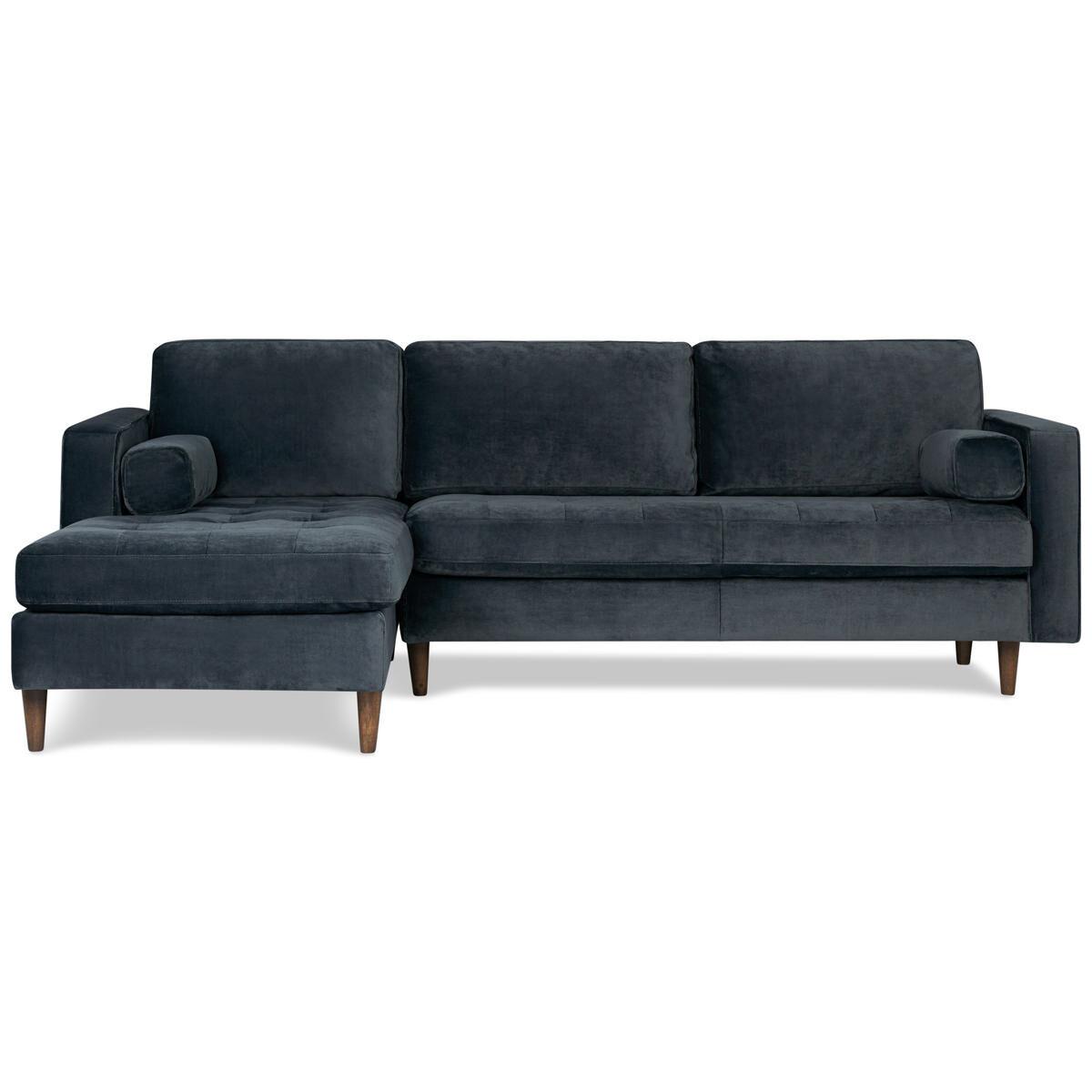marco gray chaise sofa round settee sofas reynolds gala steel