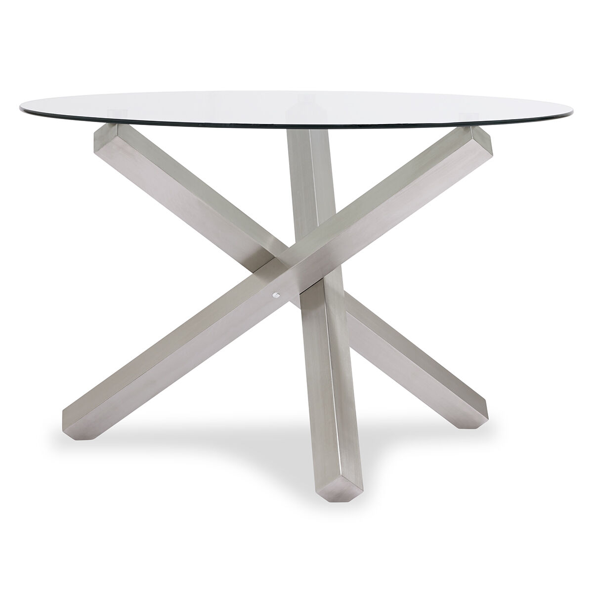 maverick dining table brushed steel