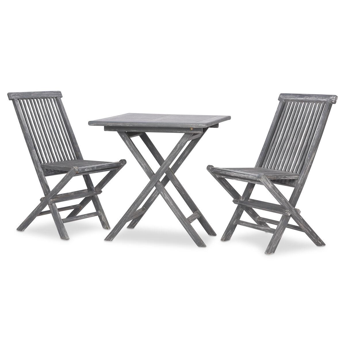 galiano 3pc patio set teak grey