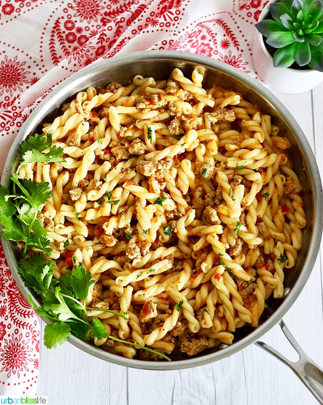 Tri-Pepper Turkey Pasta