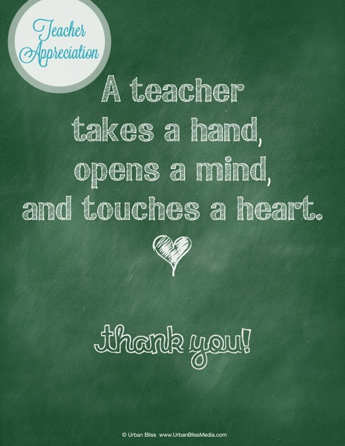 Teacher Appreciation Week Printable 3 of 5: Thank You Poster