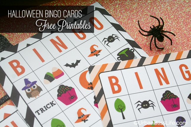 It's just a picture of Amazing 25 Printable Halloween Bingo Cards