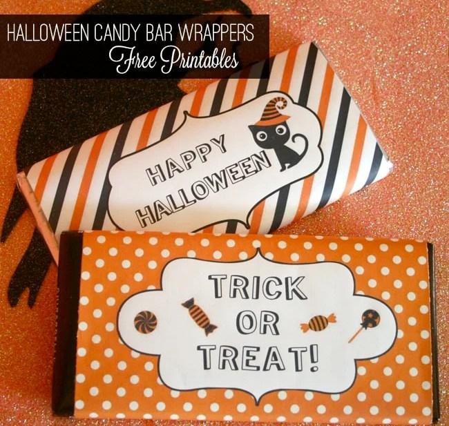 Halloween Candy Bar Wrapper