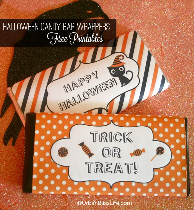 Halloween Candy Bar Wrapper Printables