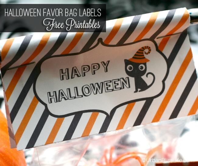 Halloween Favor Bag Labels FREE Printables