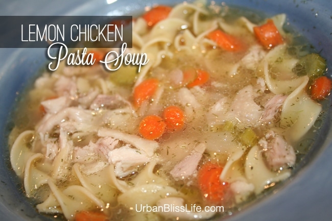 Lemon Chicken Pasta Soup