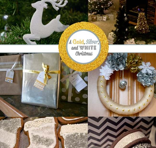 A Gold Silver and White Christmas
