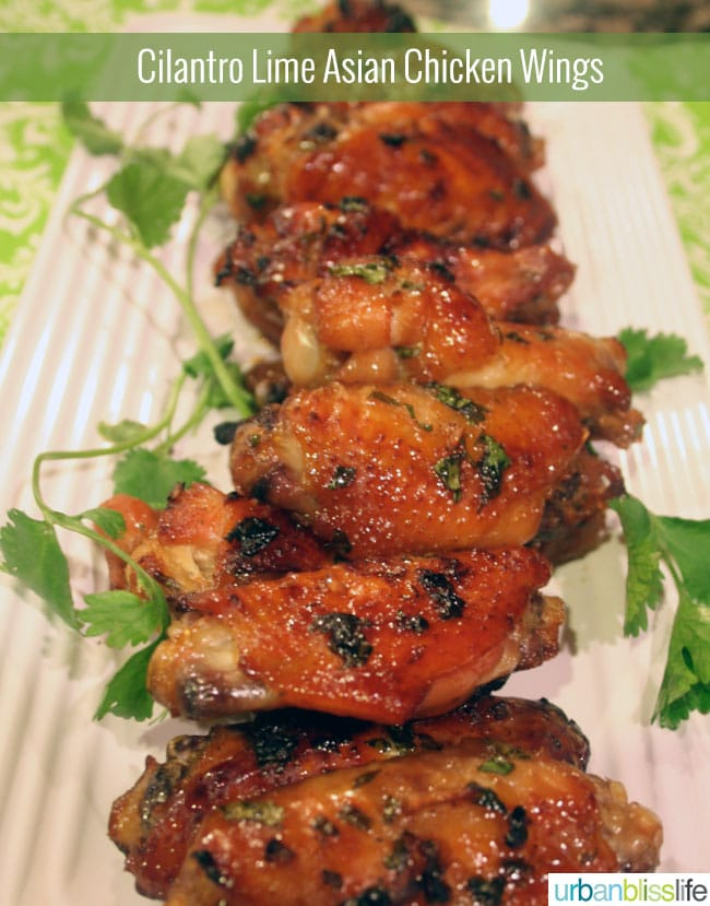 Cilantro Lime Asian Chicken Wings