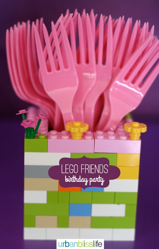 DIY Lego Birthday Party Utensil Holder