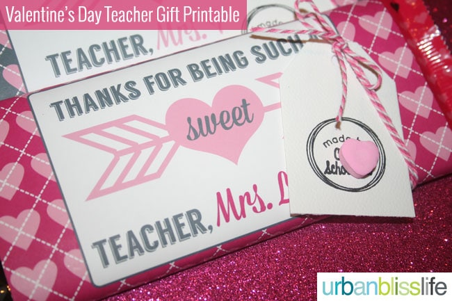 Last Minute Valentine's Day Teacher Gift FREE Printable