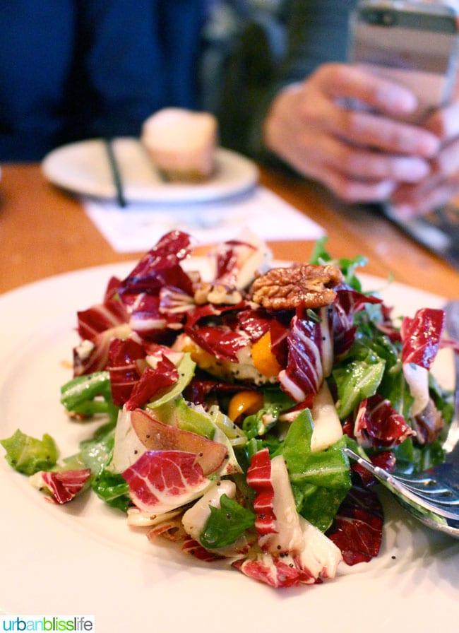 Acadia cajun restaurant Portland, Oregon salad